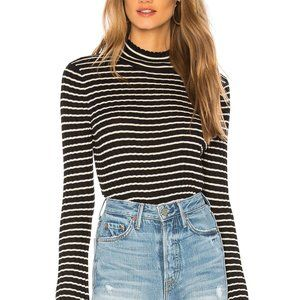 Joie Gestina Ribbed Striped Mock Neck Sweater